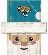 Jacksonville Jaguars Santa Head Sign
