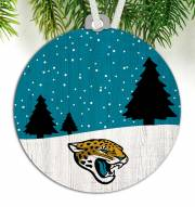 Jacksonville Jaguars Snow Scene Ornament