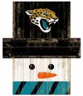 Jacksonville Jaguars Snowman Head Sign