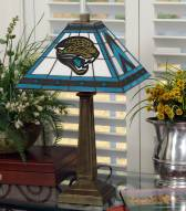 Jacksonville Jaguars Stained Glass Mission Table Lamp
