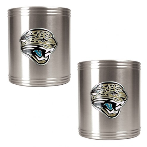 Jacksonville Jaguars Stainless Steel Can Coozie Set