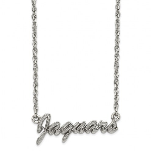 Jacksonville Jaguars Stainless Steel Script Necklace