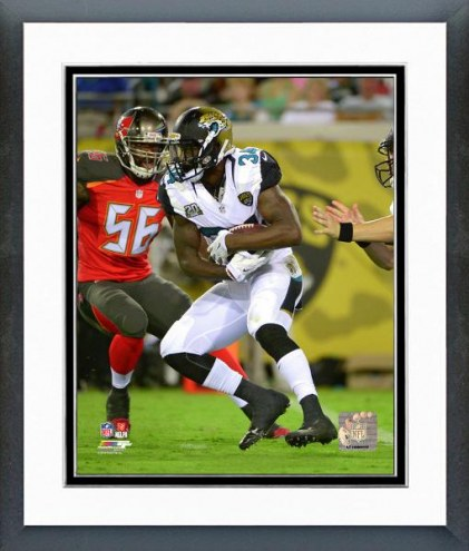 Jacksonville Jaguars Storm Johnson Action Framed Photo