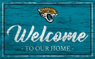 Jacksonville Jaguars Team Color Welcome Sign