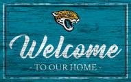 Jacksonville Jaguars Team Color Welcome Sign