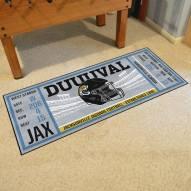 Jacksonville Jaguars Ticket Runner Rug