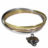 Jacksonville Jaguars Tri-color Bangle Bracelet