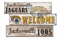 Jacksonville Jaguars Welcome 3 Plank Sign