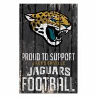 Jacksonville Jaguars Proud to Support Wood Sign