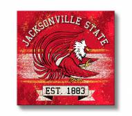Jacksonville State Gamecocks Banner Canvas Wall Art