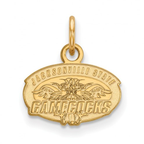 Jacksonville State Gamecocks Sterling Silver Gold Plated Extra Small Pendant