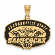 Jacksonville State Gamecocks Sterling Silver Gold Plated Large Enameled Pendant