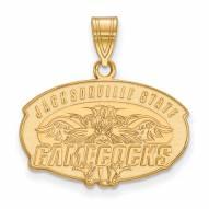 Jacksonville State Gamecocks Sterling Silver Gold Plated Medium Pendant