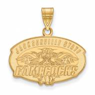 Jacksonville State Gamecocks Sterling Silver Gold Plated Medium Pendant