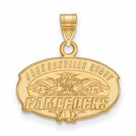 Jacksonville State Gamecocks Sterling Silver Gold Plated Small Pendant