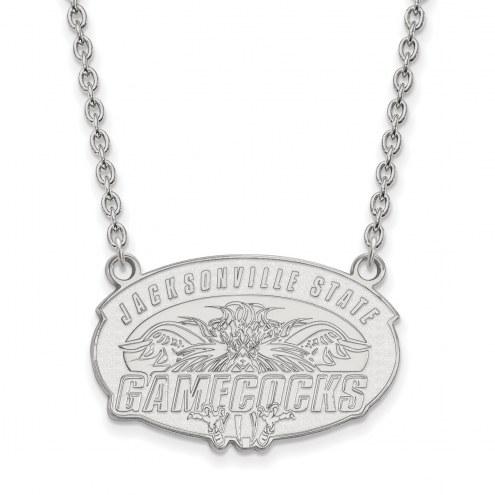 Jacksonville State Gamecocks Sterling Silver Large Pendant Necklace