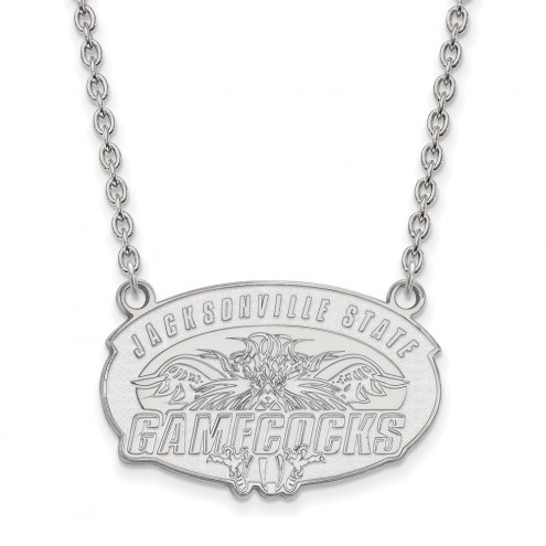 Jacksonville State Gamecocks Sterling Silver Large Pendant Necklace