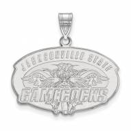 Jacksonville State Gamecocks Sterling Silver Large Pendant