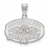 Jacksonville State Gamecocks Sterling Silver Medium Pendant