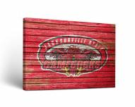Jacksonville State Gamecocks Weathered Canvas Wall Art