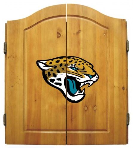 Jacksonville Jaguars Dart Board Cabinet Set