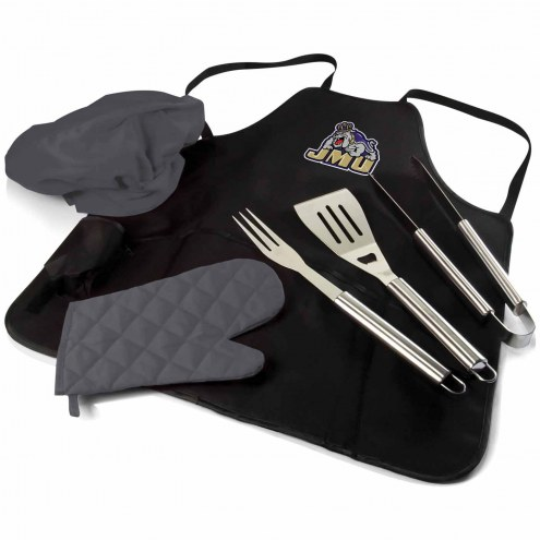 James Madison Dukes BBQ Apron Tote Set