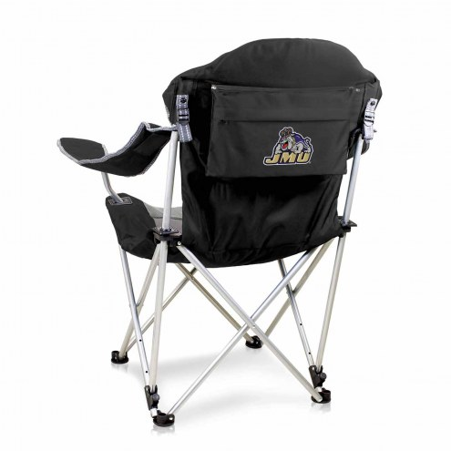 James Madison Dukes Black Reclining Camp Chair