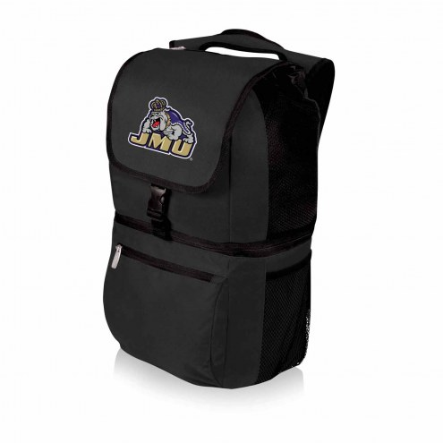 James Madison Dukes Black Zuma Cooler Backpack