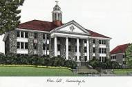 James Madison Dukes Campus Images Lithograph