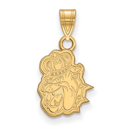 James Madison Dukes College Sterling Silver Gold Plated Small Pendant