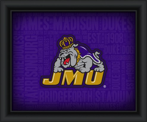James Madison Dukes College Word Cloud