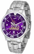 James Madison Dukes Competitor Steel AnoChrome Color Bezel Men's Watch