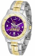 James Madison Dukes Competitor Two-Tone AnoChrome Men's Watch