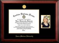 James Madison Dukes Gold Embossed Diploma Frame with Portrait