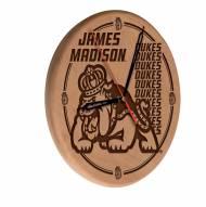 James Madison Dukes Laser Engraved Wood Clock