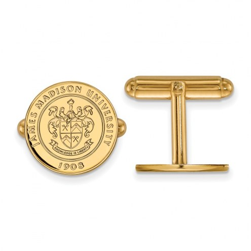 James Madison Dukes NCAA Sterling Silver Gold Plated Cuff Links