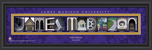 James Madison Dukes Personalized Campus Letter Art
