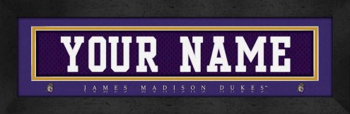 James Madison Dukes Personalized Stitched Jersey Print