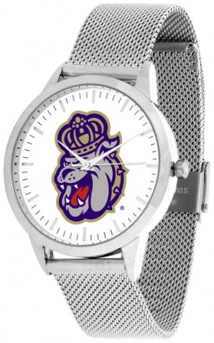James Madison Dukes Silver Mesh Statement Watch