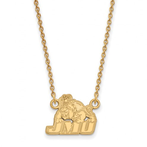 James Madison Dukes Sterling Silver Gold Plated Small Pendant Necklace