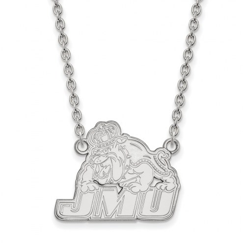 James Madison Dukes Sterling Silver Large Pendant Necklace