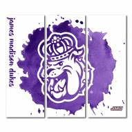 James Madison Dukes Triptych Watercolor Canvas Wall Art