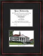 James Madison University Diplomate Framed Lithograph with Diploma Opening
