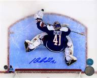 Jaroslav Halak Signed New York Islanders Crease Overhead 8 x 10 Photo