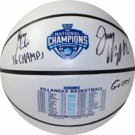 Jay Wright and Ryan Arcidiacono Dual Signed and Inscribed 2016 NCAA Championship White Panel Basketball