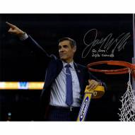 """Jay Wright Signed Cutting the Net after the 2016 National Championship Game 16 x 20 Photo w/ """"Go Cats!"""" Insc."""
