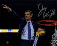 Jay Wright Signed Cutting the Net after the 2016 National Championship Game 8 x 10 Photo