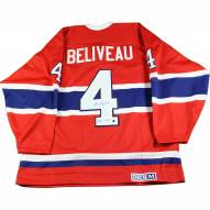 """Jean Beliveau Signed Montreal Canadiens Throwback Replica Jersey w/ """"HOF 1972"""" Insc"""