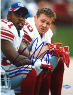 Jeremy Shockey on the Bench with Tiki 8 x 10 Photo