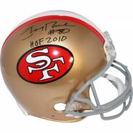 "Jerry Rice Signed San Francisco 49ers Riddell Authentic Throwback 64-95 Helmet w/ ""HOF 2010"" Insc"